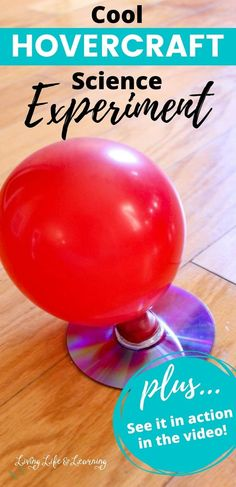 You need to try this with your kids, it will be a hit. My kiddos are always asking for hands-on science activities, even if it's one we have done over and over like this Hovercraft Science experiment project.