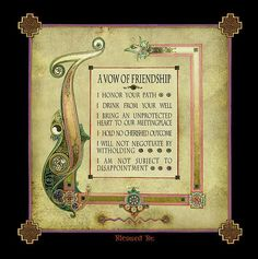 A Celtic Vow Of Friendship Poster By Michael Green