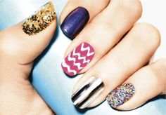 I wanna do a different design on each of my nails.