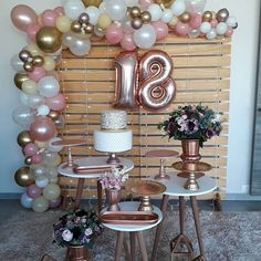 birthday birthday decorations Festa de 18 anos: Ideias e Gold Birthday Party, 20th Birthday, Birthday Balloons, Birthday Party Themes, 18th Birthday Party Ideas For Girls, Card Birthday, Birthday Quotes, Birthday Gifts, Diy Birthday Decorations