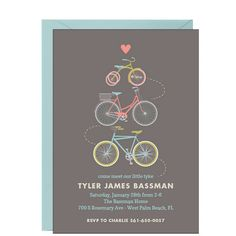 Baby bicycle baby shower invitations by briana nielson at minted little tyke baby shower invitation filmwisefo