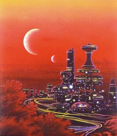 City on alien planet