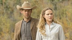 Evan Rachel Wood as Dolores Abernathy in Westworld