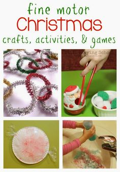 Fine Motor Christmas Crafts and Activities for Kids from the Fine Motor Friday Team by Still Playing School