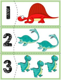 Teach counting skills with these self-correcting dinosaur puzzles! Great for teaching counting skills and number recognition for numbers Quick prep game great for math centers! Dinosaur Classroom, Dinosaur Puzzles, Dinosaurs Preschool, Dinosaur Activities, Preschool Learning Activities, Preschool Worksheets, Kindergarten Math, Preschool Activities, Vocabulary Activities