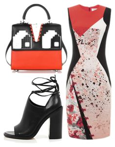 """Paint Splatter"" by cherieaustin on Polyvore featuring Prabal Gurung, River Island, Les Petits Joueurs, RiverIsland, PrabalGurung and lespetitsjoueurs"