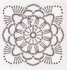 Квадратные мотивы крючком