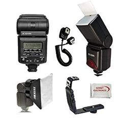 Best Value Professional AF Digital Flash Kit for NIKON D series Digital SLR Cameras. Also Includes Bonus Wide Flash Diffuser & Flash Stand. Professional Right Angle Flash Bracket, Off Camera Flash Cord, Bounce Reflector and Professional Soft Box Flash Diffuser & SSE Microfiber Cleaning Cloth - http://electmecameras.com/camera-photo-video/flashes/best-value-professional-af-digital-flash-kit-for-nikon-d-series-digital-slr-cameras-also-includes-bonus-wide-flash-diffuser-flash-st