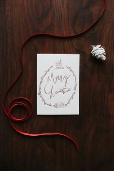 Letterpressed Christmas Card in Copper - kinda fabulous (and my sister makes them!)  Buy them on etsy!!