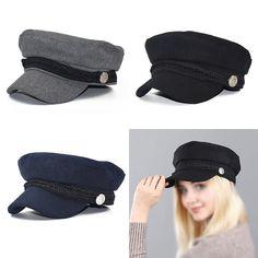 c5ddb806954 Fashion Women Wool Blend Baker Boy Peaked Cap Newsboy Hat with Elastic Band