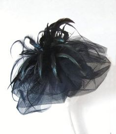 1bfcff98016 Black Feather and Tulle Fascinator. Jozanne · Amazing Hats - Esther