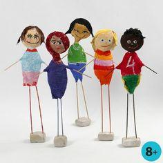 Barn från hela världen, gjorda av frigolit med gipsgaze | Pysseltips