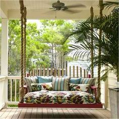 Oversized porch swing! Looks comfy