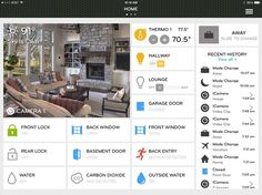 Smart apps let you remotely monitor and control your home automation system from your tablet, computer or phone.