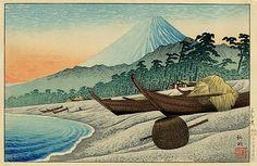 Fuji from Senbon Beach - Shotei Takahashi - WikiArt.org