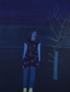 Tom Hammick, Violetta Alone II, 2015, Flowers #arte #pintura