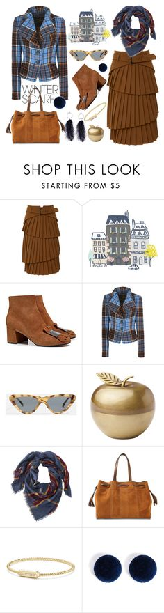 """Winter Scarf"" by bysc ❤ liked on Polyvore featuring Pollini, Vivienne Westwood Anglomania, Topshop, Kate Spade, L.L.Bean, Gérard Darel, David Yurman and Forever 21"