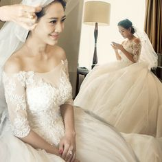 long wedding dresses shoulder brides long-sleeved trailing backless dress [c208 Long Wedding Dresses] - $70.70 : Allymey.com