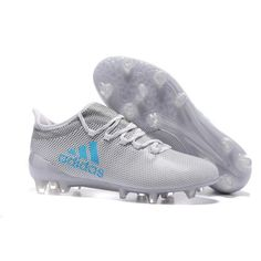 timeless design f71b0 55fdc 2017 Adidas X 17.1 TPU FG Chaussures de Football Blanc Gris Bleu