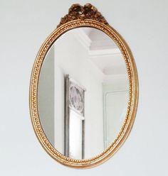 Antique French Gold Gilt Mirror in Good Vintage by Decofanatique, $99.00