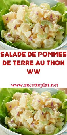 I made a very simple salad Potato Salad with Tuna and Mayonnaise but so good! Healthy Meals For Kids, Healthy Breakfast Recipes, Healthy Chicken Recipes, Easy Healthy Recipes, Weigth Watchers, Pumpkin Quinoa Salad, Easy Salads, Weight Watchers Meals, Entrees