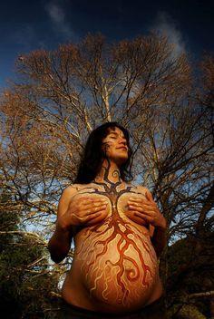 Druids Trees: Tree of life pregnant belly painting. Sacred Feminine, Divine Feminine, Pregnancy Spells, Fertility Spells, Pregnant Belly Painting, Belly Art, Getting Pregnant, I'm Pregnant, Mother Earth
