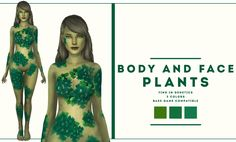lordreboot — Body and face plants original texture 3 colors . Sims 4 Body Mods, Sims Mods, Maxis, Sims 4 Collections, Sims 4 Dresses, Sims 4 Cc Skin, Sims 4 Cc Packs, Sims 4 Characters, Sims 4 Toddler