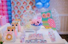 """Photo 32 of 44: Vintage Shabby Chic Owl / Birthday """"Kaila's 1st Birthday""""   Catch My Party"""