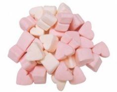 Coeur guimauve rose et blanc
