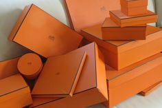 ART BOX by Hermes. Collect them! Display them! Enjoy them! Someone say Tangerine is the hot color for Spring. Think Hermes knew what it was doing when they designed the box!!!! 