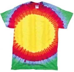 The latest trend for this Summer Rainbow Starburst tie-dye shirt Double-needle stitched neckline and sleeves Shoulder-to-shoulder taping Hand-dyed