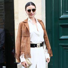 Miranda Kerr Gave Cowgirl-Chic The Fashion Treatment Fall Fashion Trends, 80s Fashion, Fashion Outfits, Style Fashion, Minimal Classic Style, Miranda Kerr Style, Cool Style, My Style, Hippie Style