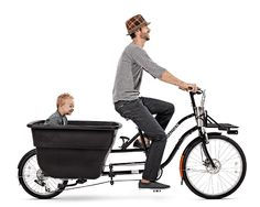 Madsen bucket bike, urban utility transportation.