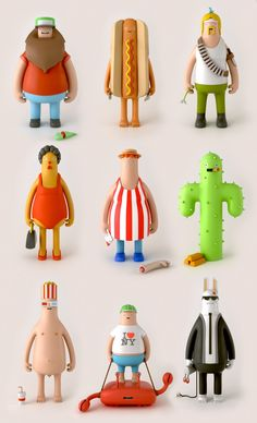 ToySeries_01 // hot dog toys? Collect them all...
