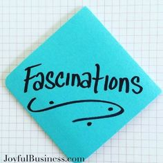 Today's Energy Infusion Word: Fascinations. Notice what you are fascinated by – research, new gadgets, type of food, flowers…its unique to you. Notice how these fascinations make you come alive! You're not wasting time- you are re-energizing! What are your fascinations?  #energyinfusionwords #creativityinbusiness #leadership #creativepower