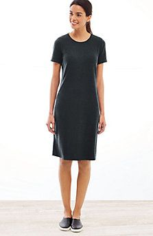 Pure Jill Tencel®-Soft knit short-sleeve dress