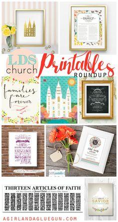 lds church printable roundup! - A girl and a glue gun