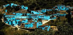 Smurf City - Juzcar in Malaga, Spain