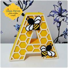 Letra em 3d - abelha