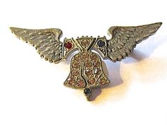 WWII Sweetheart Jewelry Liberty Bell on Wings by JHMCollections, $48.00