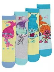 Trolls 4 Pack Assorted Socks