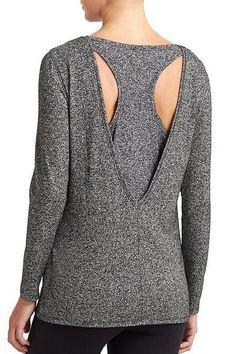 Stylish V-Neck Long Sleeve Backless Knitwear