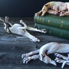 Sarah Regan Snavely ceramic greyhound dog sculpture