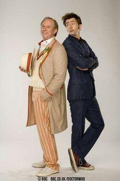 Peter Davison and David Tennant