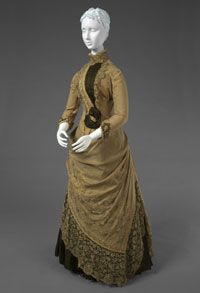 Day dress by A. Morhangie & Cie, French (Paris), c. 1885.