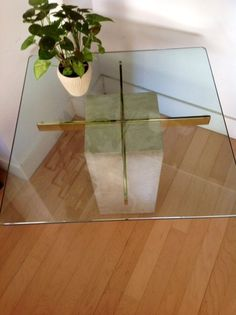 Ordinaire A Brass Coffee Table | Pinterest | Glass Table Top, Coffee And Glass Table