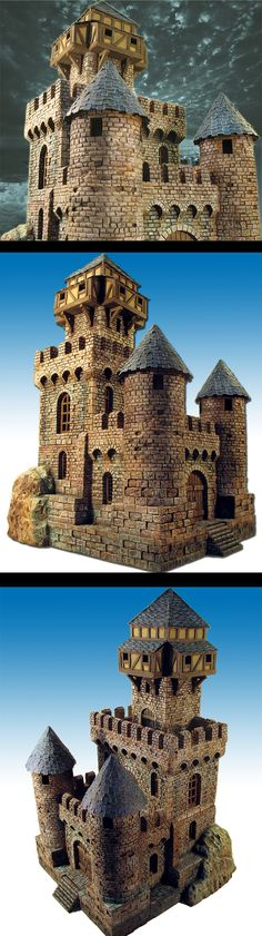 The Internet's largest gallery of painted miniatures, with a large repository of how-to articles on miniature painting Model Castle, Toy Castle, Castle House, Chateau Fort Jouet, Tabletop, Hirst Arts, Small Castles, Warhammer Terrain, 3d Modelle