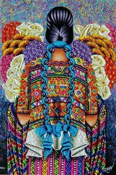 By Pedro Arnoldo Cruz Sunu, Guatemala Mexican Artwork, Mexican Paintings, Mexican Folk Art, Guatemalan Art, Latino Art, Frida Art, Mexico Art, Decoupage, Mexican Artists
