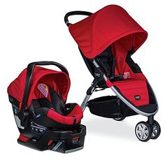 Britax BAgile 3BSafe 35 Travel System Red Prior Model ** Read more reviews of the product by visiting the link on the image.