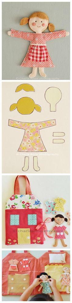 Felt Doll Pattern by Charla Anne::